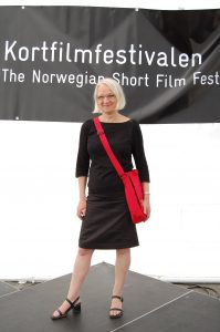 Torunn Nyen på Kortfilmfestivalen i Grimstad - foto Grimstad Adressetidende