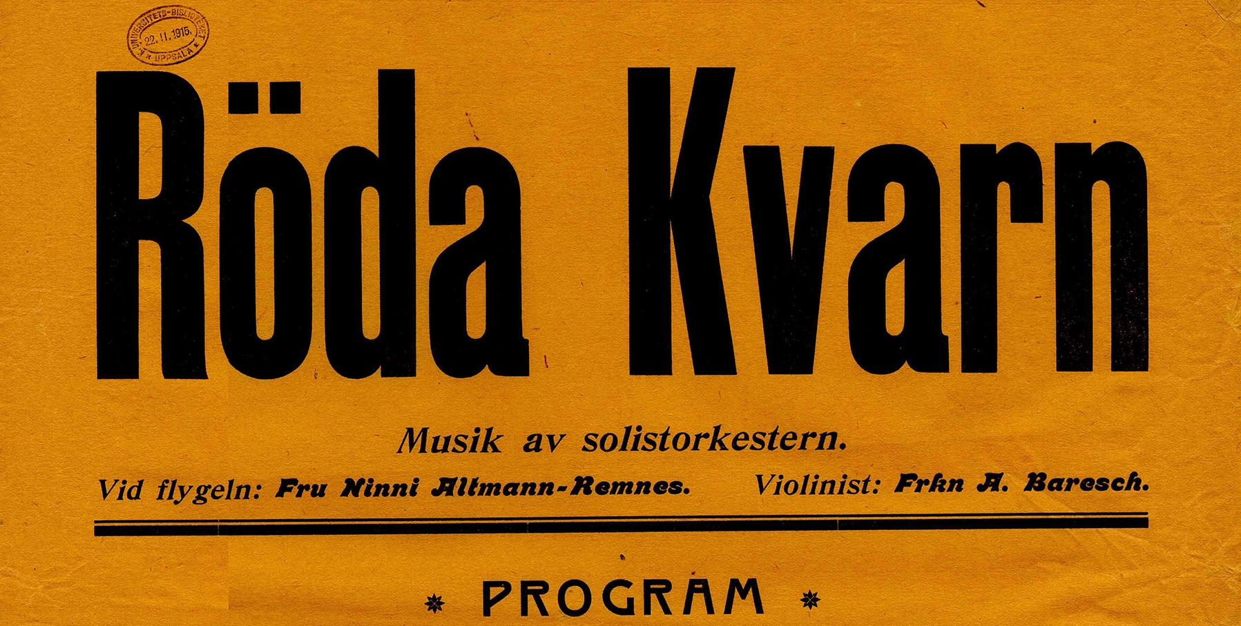 Female cinema musicians in Sweden 1905–1915